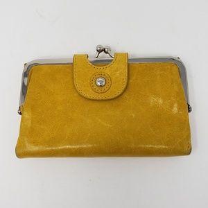 Hobo Yellow Leather Wallet
